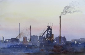 Steelworks Series No.27    33 x 50 cm    Watercolour
