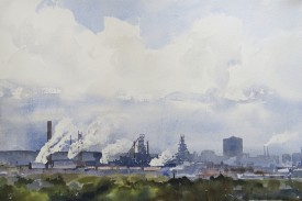 Steelworks Series No.29    33 x 50 cm    Watercolour