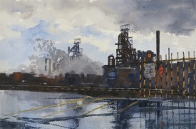 Steelworks Series No.30    36 x 55 cm    Watercolour