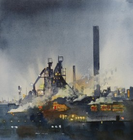 Steelworks Series No.31    43 x 41 cm    Watercolour