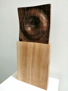 Ripple   Walnut and Sycamore   41cm high