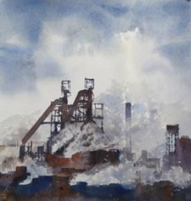 Smokescreen    35 x 29 cm    Watercolour