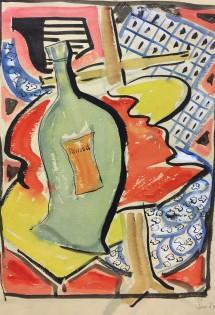 """Pernod"" 1954 watercolour31 x 24 cm Mounted but unframedWatercolour"