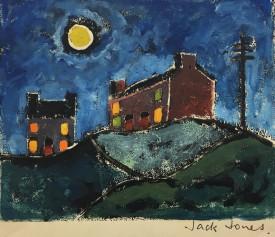 "Jack Jones ""Moonlight II ""1982 Monoprint/Mixed Media(11.5 x 14 cm) Mounted unframed"