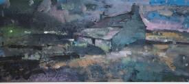 """Meirion Jones """"Ceredigion Farm , Acrylic"""