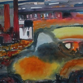 Industrial landscape VI-old Hafod works1994