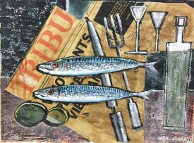 "6. Jack Jones  ""Mackerel on brown paper*"