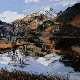 Llyn Gwynant 40x40cm.£545 oil on canvas