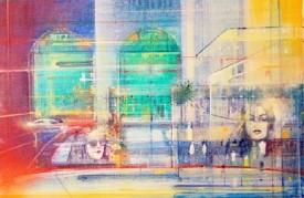 London Taxi    Acrylic on Canvas   16 x 24 ins