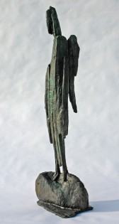 Angel (2),  H82 x W24 x D16 cm,   Weight 14.5 Kg,  Bronze only edition of 9