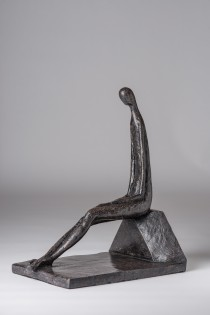Quiet Moment, stone-resin, edition of 18, ht 39.5 x w 21 x  d 30 cms