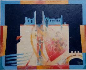 Neath Abbey Ruins   24x29 cm   Alkyd Oils