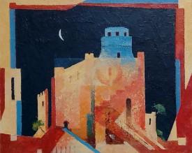 Dynewr Castle   21 x 28 cm   Alkyd Oils