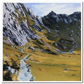 Path to Idwal Slabs   60 x 60 cm   oil on canvas