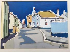 """David Randal Davies 'Port Isaac' (8.75"""" x 12"""") Acrylic"""