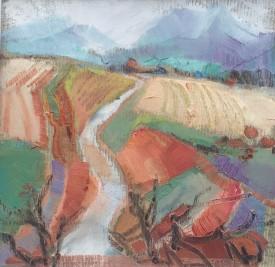 "Elizabeth Haines 'Provence"" ( 18.5 x 18.5 CM) Oil"