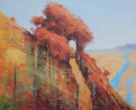 """Arch at Caswell Bay Alkyd Oil (9.5"""" X 11"""")"""