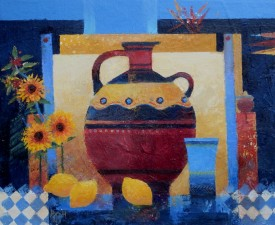 "Roman Amphora Alkyd Oil (9.5"" X 11"")"