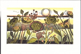 Sand Dunes Oxwich   Linocut   16 x 28 cm