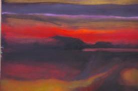Twilight II    22 x 16 ins    Oil on Paper