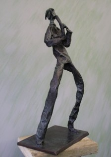Solo, bronze edition of 9, ht 59 x w 30 x d 20 cms