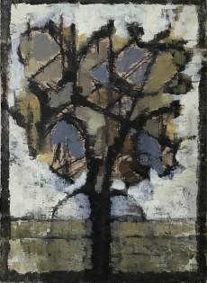 Solstice Tree    Charcoal & Acrylic    27.5 x 19.5 cm