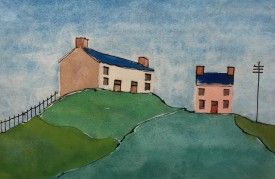 Top of the Hill, Watercolour, 17x24cm, £450