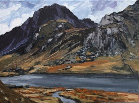 "Aled Pritchard Jones ""Tryfan from Llyn Idwal"" 30 x 19 CM"