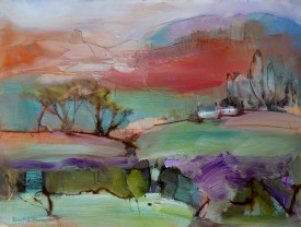 Under Glynaeron Hill, oil on paper, 40x50 cms