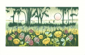 Views of Mumbles   Linocut   16 x 28 cm