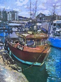 Winnie, Swansea Marina   Original Batik   54 x 45 cm