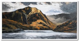 Y Garn, Llyn Ogwen   40 x 70 cm   oil on canvas