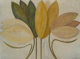 Vivienne Williams 'Yellow Tulips' Acrylic on Paper (46 X 61 cm)