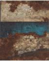 Lisa Wisdom 'Tumbledown Wall' Mixed Media (34 x 39.5 CM)