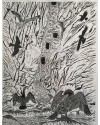 """Culver Hole"" 1/30 Limited Edition print Linocut (31 x 41 cm)"
