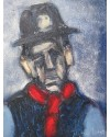 Collier, Red Muffler    10 x 8 ins.   Oil