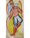 "Jack Jones ""Man""	1953 (39 x 21 cm) Watercolour Mounted unframed"