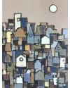 The City asleep    Charcoal & Acrylic     39 x 29 cm