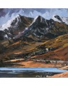 "Aled Prichard-Jones ""Snowdon Group from Llyn Mymbyr "" (60x60cm) . oil on canvas"