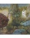 "Sara Philpott 22""White Rabbit"" (16 x 16 ins) Oil on Board"